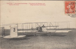 44-NANTES-AVIATION-14/21.08.1910-Départ De Renaux Sur Biplan Farman  Animé - Nantes