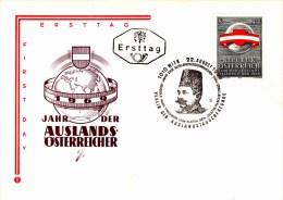 Ersttag ÖS 3,50 - Jahr Der Auslands - Österreicher 1969 Sstpl Rudolf Karl Frhr. Von Slatin - FDC