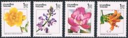Thaïlande - Fleurs 1316/1319 ** - Végétaux