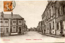 02 - AUBENTON - HOTEL DE VILLE - COMMERCE DONT BOULANGERIE - Autres Communes