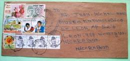 Pakistan 2012 Cover To Nicaragua - Flowers Mosque Woman Arms Polio Medecine - Pakistan