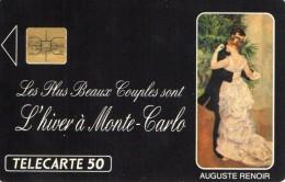 TELECARTE MONACO 50U   L'Hiver à Monte-Carlo  12 - Monaco