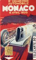 TELECARTE MONACO 50U  Automobile Club  Monaco-2e GP  13 - Monaco