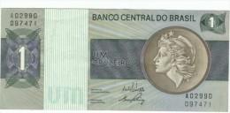 Brazil #191a, 1 Cruzeiro 1970-72 Banknote Money - Brazil