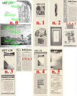 Calabria - Lotto Rivista ART GM N. 0,1,2,3,4,5 TUTTO IL PUBBLICATO 1998-2001, ART GM EDIZIONI - Arte, Design, Decorazione