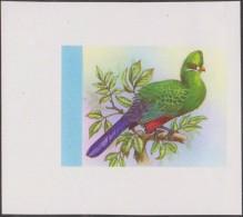 Libéria 1977 Y&T BF 84. Épreuve D´impression Offset. Oiseaux. Touraco Louri Ou Touraco De Knysna (Tauraco Corythaix), - Cuckoos & Turacos