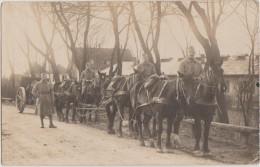 CPA PHOTO SOLDATS MILITAIRES 132° Régiment Artillerie Attelage Chevaux - Regimente