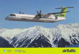 AIRBALTIC, Official Postcard (Winter 2010) - Publicidad