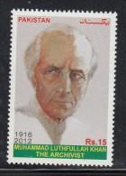 PAKISTAN, 2012, Mohammad Luthfullah Khan, The Archhivist, ,, , MNH (**) - Pakistan