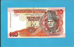 MALAYSIA - 10 RINGGIT -  ND (1989 ) - P 29A - UNC. -  Sign. Datuk Jaafar Hussein - Printer BABN - King T. A. Rahman - Malaysia