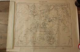In Salah - Afrique (région Septentrionale) - Publié Par Le Service Géographique De L'armée - Révisé Et Complété En 1895 - Cartes Topographiques