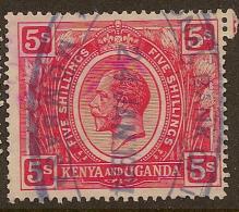 KENYA 1922 5/- KGV SG 92 U #MS313 - Kenya, Uganda & Tanganyika