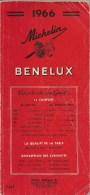 GUIDE-TOURISTIQUE-1966-MI CHELIN-ROUGE-BENELUX- EDITION-PEU SERVI--BE-RARE - Michelin (guides)