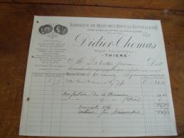 Facture Illustree  Thiers Didier Thomas Manche Coutellerie Couteau - 1900 – 1949
