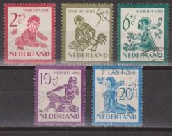NVPH Nederland Netherlands Pays Bas 563 564 565 566 567 Used;  Kinderzegels,children Stamps,timbres D´enfants 1950 - 1949-1980 (Juliana)