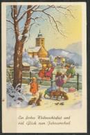 Weihnachtskarte - Gelaufen - Christmas