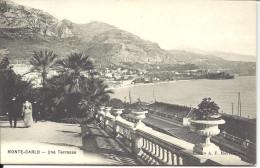 "MONACO  -=-  MONTE CARLO  -=-  CPA -=- Une Terrasse Dominant La Gare     "" Editeur Monégasque "" - Le Terrazze"