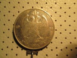 KINGDOM Of YUGOSLAVIA 50 Dinara 1938 Silver 14.98 Gr - Yugoslavia