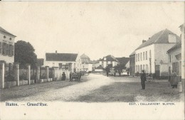 Blaton.   -   Grand' Rue,   1900  Prachtige Kaart! - Bernissart