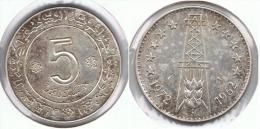 ARGELIA 5 DINAR 1972 PLATA SILVER - Argelia