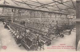 Troyes - Interieur D´ Une Usine De Bonneterie Salle De Metiers Cotton - Scan Recto-verso - Troyes