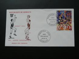 FDC Basketball 1979 Djibouti Ref 62912 - Basketball