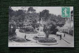 ALAIS ( ALES ) - Le Bosquet Et La Statue De Pasteur - Alès