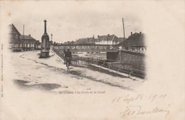 Le  Chesne - La Croix Et Le Canal -   Scan Recto-verso - Le Chesne