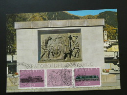 Carte Maximum Card Mémorial Victimes Tunnel Du Gottard Suisse Ref 61363 - Geología