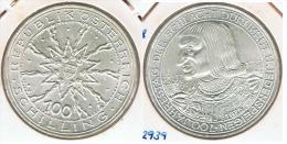 AUSTRIA 100 SCHILLING 1978 PLATA SILVER. G5 - Autriche