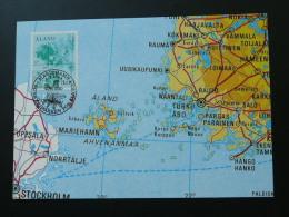 Carte Maximum Card Géographie Carte Map Aland Ref 61691 - Géographie