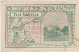 Portugal-cedula De Abrantes 3 Centavos  Muito Boa - Billetes