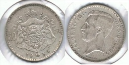BELGICA 20 FRANCS 1934 PLATA SILVER G1 - 1934-1945: Leopoldo III