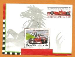 Italy Italia 200 Ferrari Campione Del Mondo Di Formula 1 2000 Used F0093 - 6. 1946-.. Republik