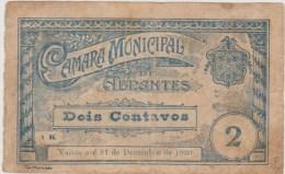 Portugal-cédula De Abrantes 2 Centavos 1920  Letras A K - Billetes
