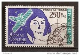 "Madagascar Poste A�rienne Yvert & Tellier N� 134 ""oblit�r� Ann�e1974 nicolas copernic"