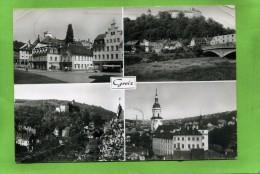 Greiz Puschkinplatz  Blick Zum Schloss Unteres Schloss Und Stadtkirche - Greiz