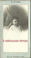 Format Mignonnette CDV 4,5 X 8cm-petit Fille  Nommée Marie Canel En 1904-photo E. Bichon à Paris - Photos