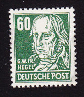 DDR, Scott #133, Mint Never Hinged, Hegel, Issued 1953