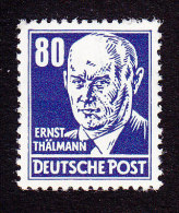 DDR, Scott #134, Mint Never Hinged, Thalmann, Issued 1953