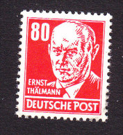 DDR, Scott #135, Mint Never Hinged, Thalmann, Issued 1953