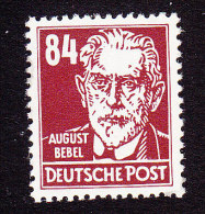 DDR, Scott #136, Mint Never Hinged, Bebel, Issued 1953