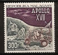 Madagascar 1961 n� PA 124 ** Espace, Apollo XVII, Science, Voiture lunaire, Automobile, NASA, Kennedy, Guerre froide