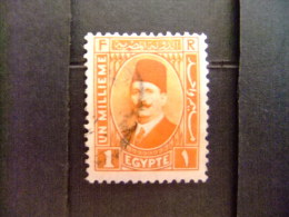 EGIPTO - EGYPTE - EGYPT - UAR - 1927 - 32 - ROI FOUAD 1 - Yvert & Tellier Nº 118 º FU - Ägypten
