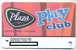 Plaza Casino,  Las Vegas, NV, U.S.A. older used slot or player's card, # plaza-5