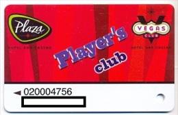 Plaza Casino,  Las Vegas, NV, U.S.A. older used slot or player�s card, # plaza-6