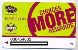 Plaza Casino,  Las Vegas, NV, U.S.A. older used slot or player�s card, # plaza-7
