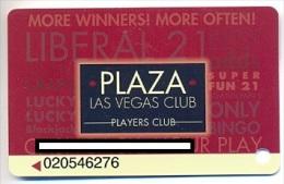 Plaza Casino,  Las Vegas, NV, U.S.A. older used slot or player�s card, # plaza-8