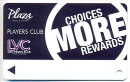 Plaza Casino,  Las Vegas, NV, U.S.A. older used slot or player�s card, # plaza-9