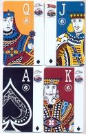Plaza Casino,  Las Vegas, NV, U.S.A. 4 older used slot or player�s cards, # plaza-10-13